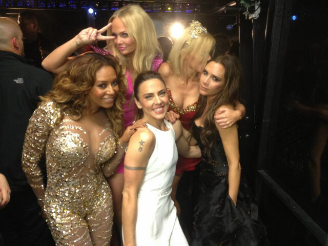 The Spice Girls celebrated their London Olympics closing ceremony together. Source: Twitter user victoriabeckham