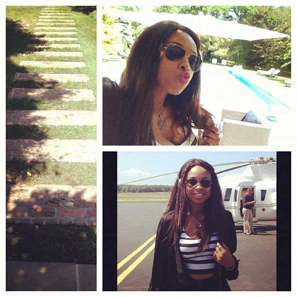 Jennifer Hudson shared pictures and blew kisses during her Summer getaway.  Source: Instagram user jhuddiva1