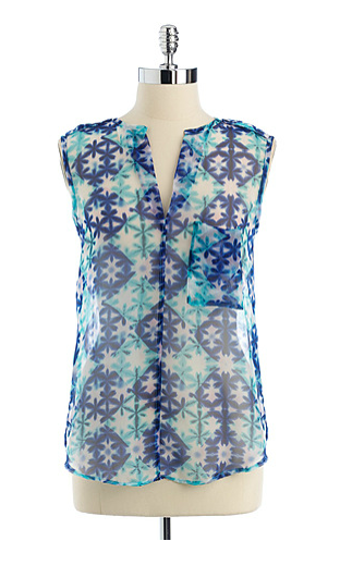 A digital floral print highlights this chic blouse. Collective Concepts Floral Print Sheer Top ($29, originally $78)