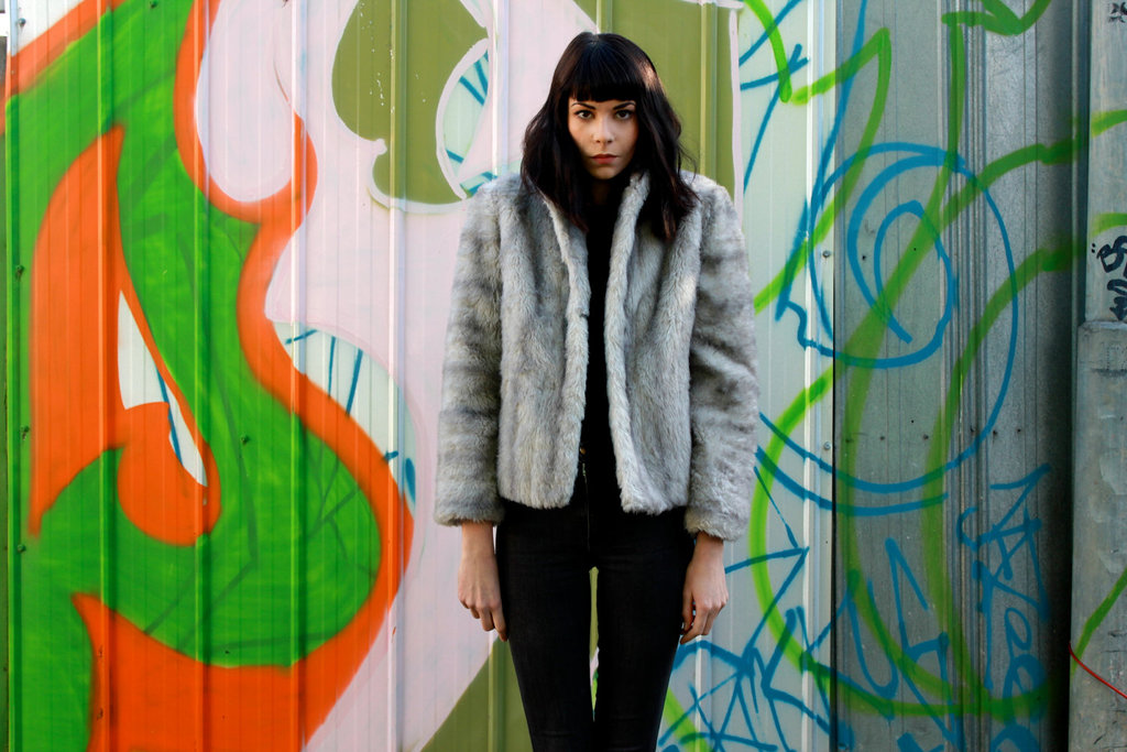 This nubby faux-fur cropped coat will last you well through the holiday season. Gray Faux Fur Cropped Coat ($38)