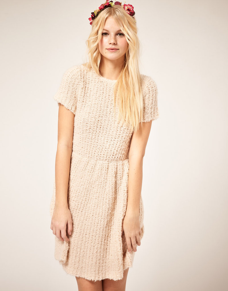 This knit dress is heavy enough to be worn alone but would also look great with printed tights and motorcycle boots. ASOS Dress With Textured Knit ($28, originally $85)