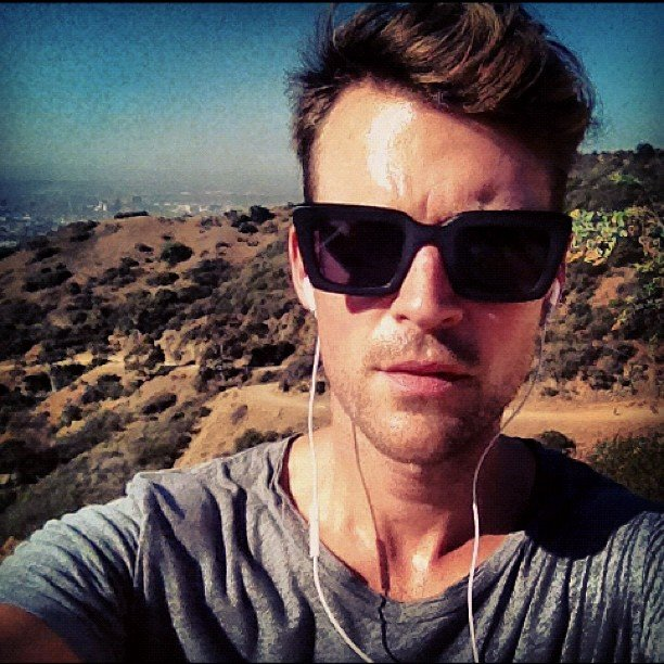 Brad Goreski took a hike. Source: Instagram user mrbradgoreski