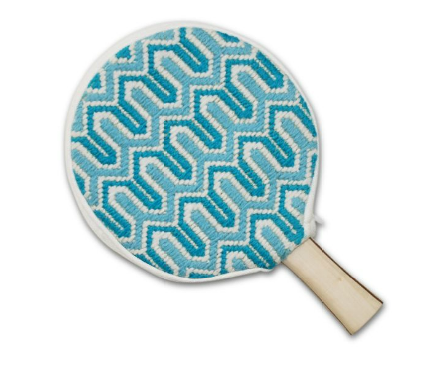 Wave goodbye to the dingy paddles of yesterday and say hello to these funky Ping Pong Paddles and Covers ($72). The pattern is bright and cheery, making it the perfect accompaniment to any match.