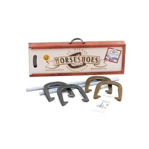 What outdoor collection is complete without an old-fashioned Horseshoes Set ($60)? We're currently swooning over this collection that features beautiful, hearty horseshoes and a vintage-inspired case.