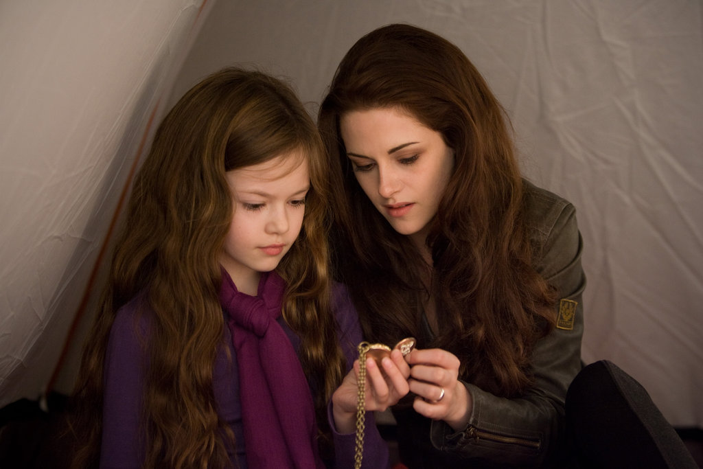 A mother-daughter moment between Bella and Renesmee in Breaking Dawn Part 2.