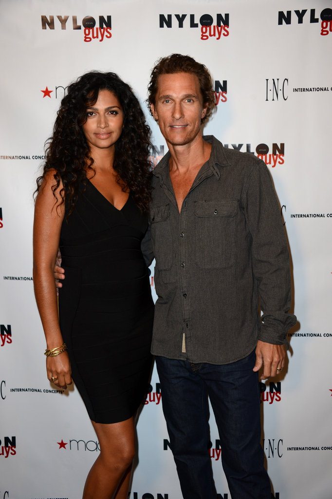 Matthew McConaughey and Camila Alves made a stunning pair at the Nylon Guys and Macy's Inc. September issue party.