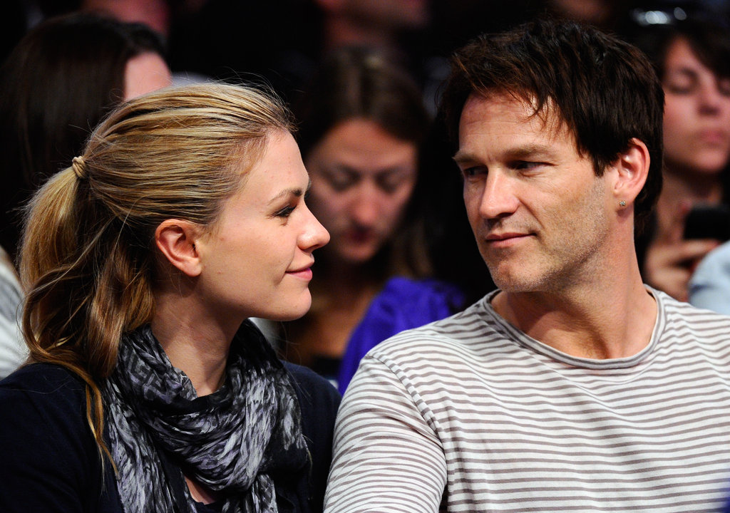 Anna Paquin and Stephen Moyer shared a look of love a Lakers game in LA in April 2011.