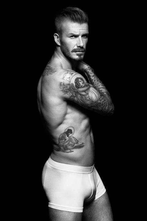 David Beckham posed in his underwear.