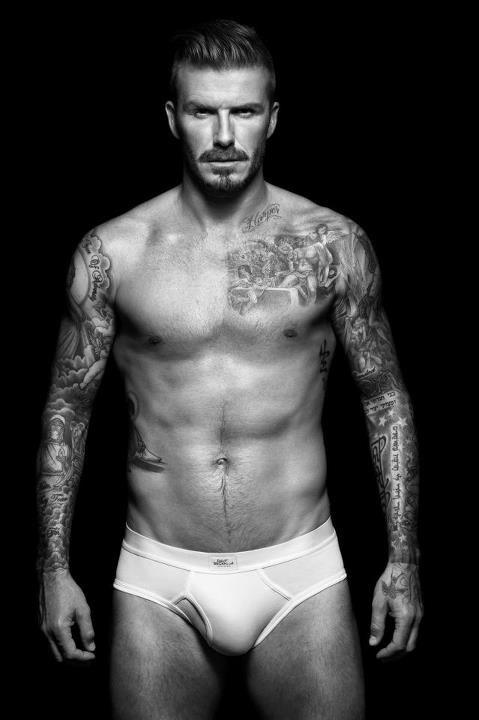 David Beckham wore just undies.