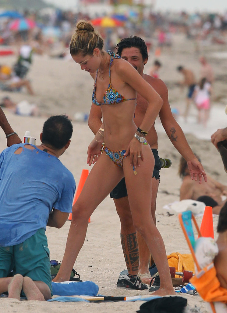 Doutzen Kroes soaked up the Florida sun.