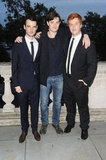 Costars Tom Sturridge, Sam Riley, Danny Morgan at the On The Road UK premiere in London.