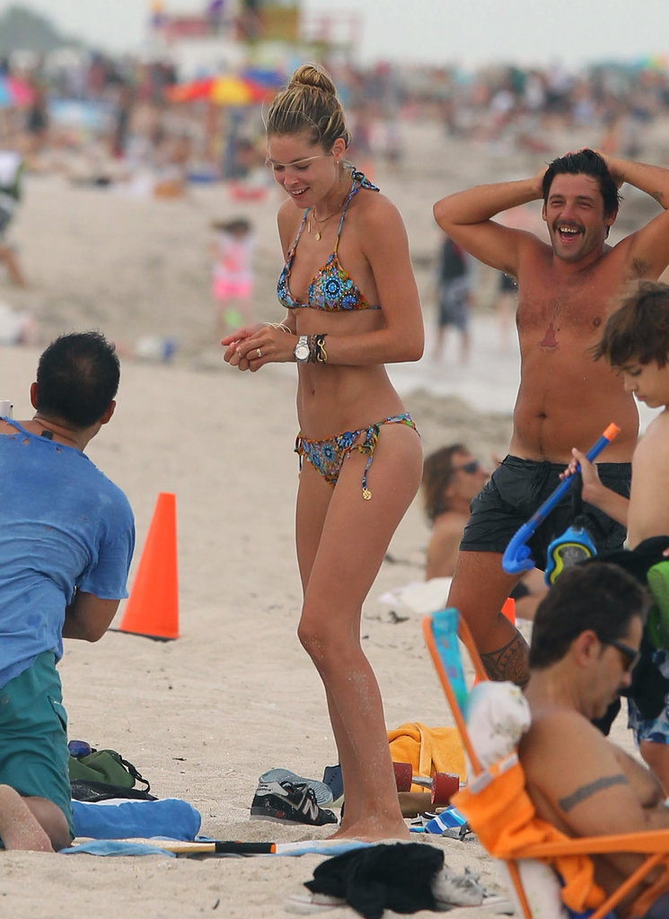 Doutzen Kroes was all smiles.
