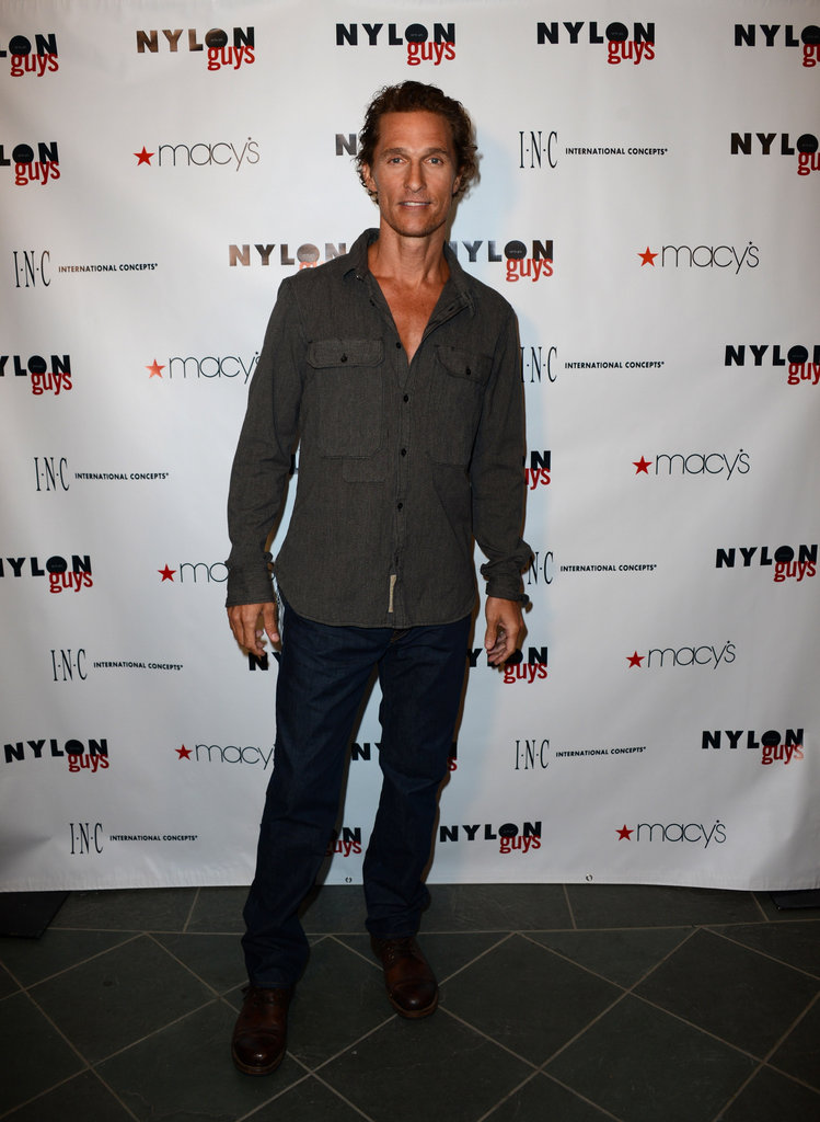 Matthew McConaughey hosted a Nylon Guys and Macy's Inc. party in Santa Monica, CA.