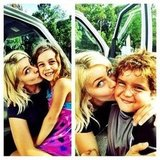 Julianne Hough smooched her Safe Haven costars on the film's set.  Source: Instagram user juleshough