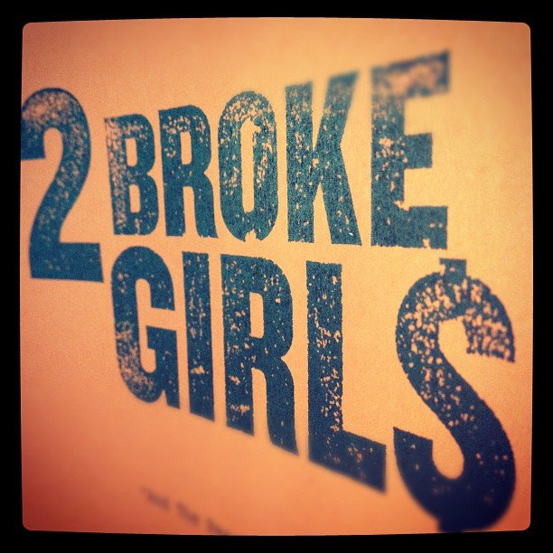 Kat Dennings took a picture of her 2 Broke Girls script.  Source: Instagram user katdenningsss