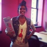 Assistant Editor Brittney Stephens put on her Diet Coke best for a midday pick-me-up. We were really into it.
