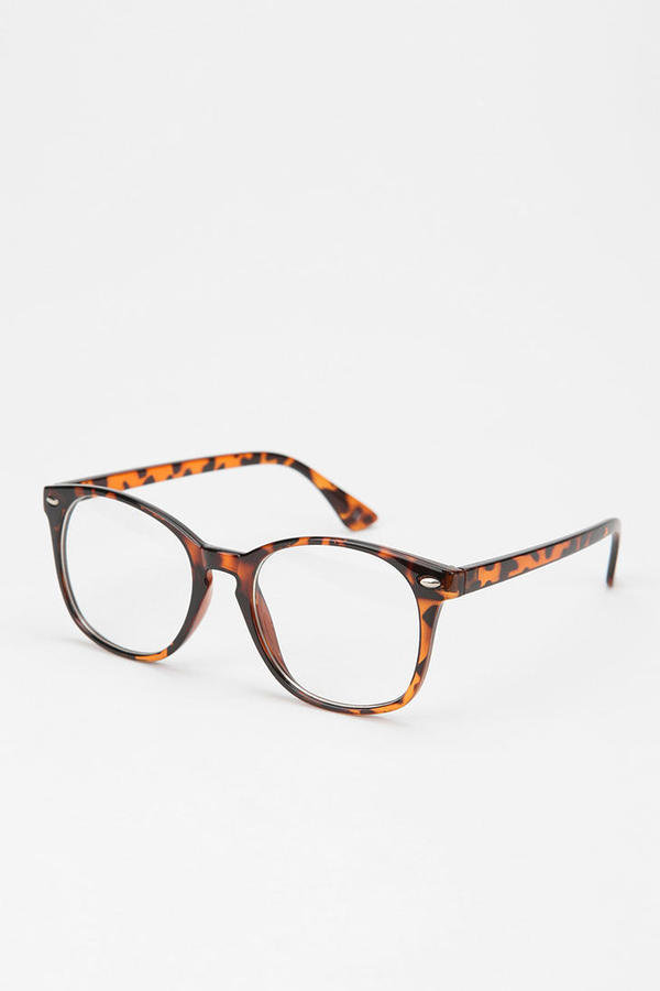 These tortoiseshell glasses won't help you see better, but they will make you look really cute. Urban Outfitters Granger Readers ($14)