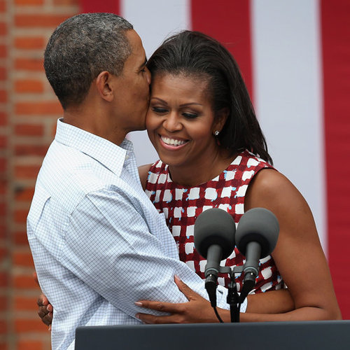 Barack Obama Kissing Michelle Obama