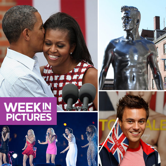 The President Puckers Up, David Beckham Is a Vision in Silver, and the Olympics Are Spiced Up