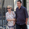 Michelle Williams Wearing Printed Dress