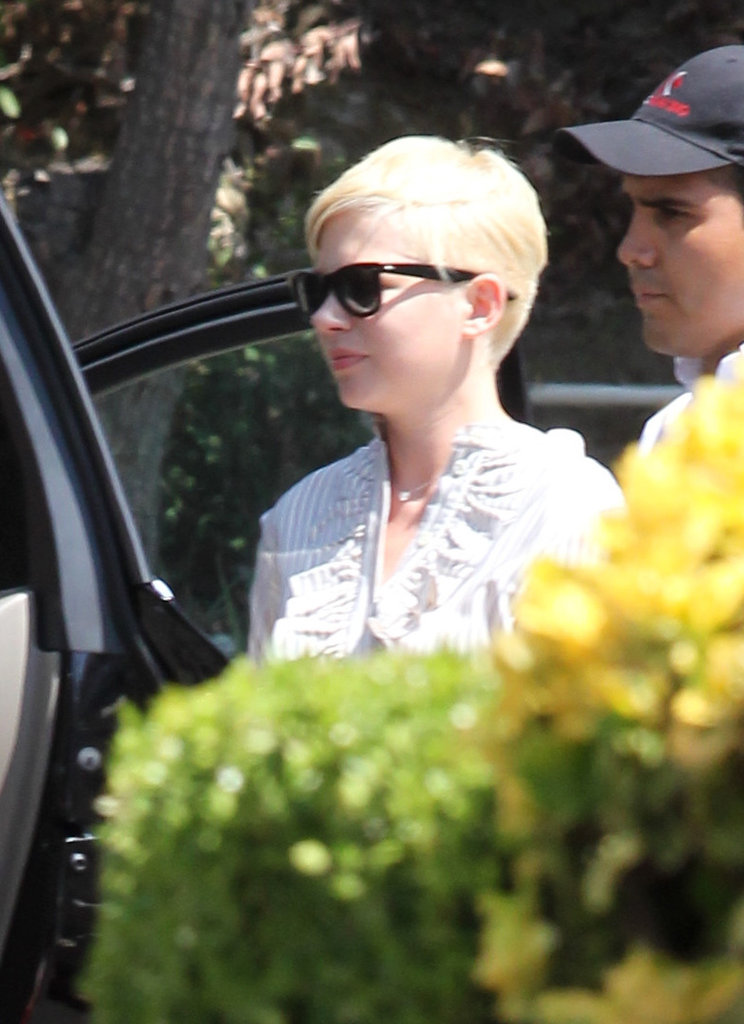 Michelle Williams got out of her car in LA.