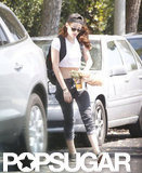 Kristen Stewart walked to her car.
