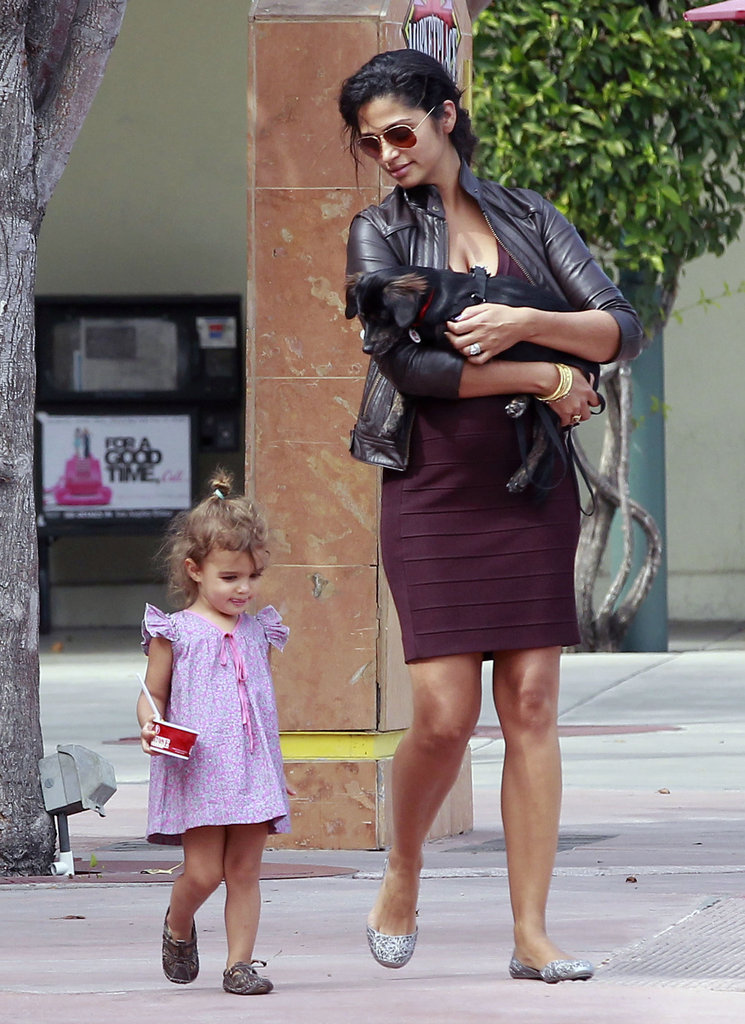 Camila Alves-McConaughey carried the new family pet.