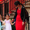 Katie Holmes and Suri Cruise at Alice's Tea Cup