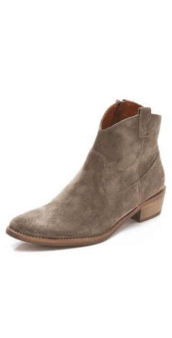 A hybrid of the classic cowboy boot that's also perfect for the girl in the city.  Madewell Barnwood Bootie ($198)