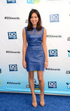 Parks and Recreation starlet Aubrey Plaza donned a sexy leather cutout dress — but it was that gorgeous shade of blue that kept our attention. To offset the edgy sheath choice on top, she wore minimalistic nude sandals.