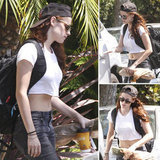 Kristen Stewart Emerges After Scandal — in a Crop Top!