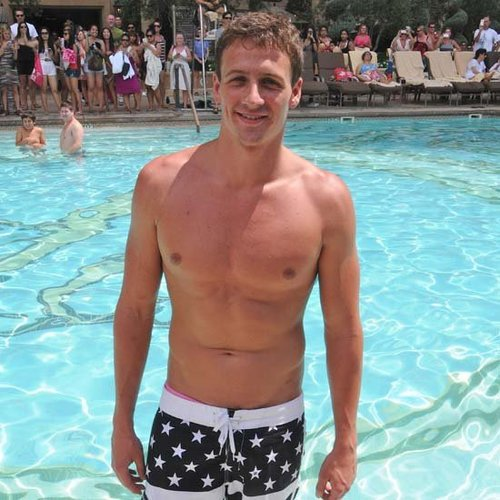 Prince Harry and Ryan Lochte Swimming Race in Las Vegas Pool Video Footage