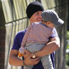 Orlando Bloom Walks With Flynn in Australia