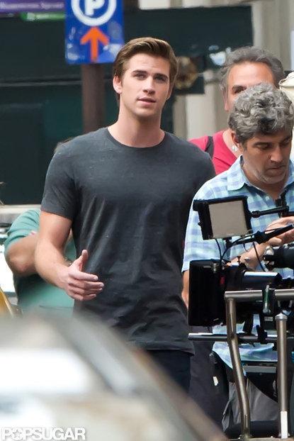 Liam Hemsworth shot a scene in Philadelphia.