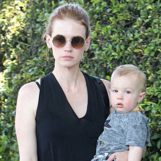 January Jones and Baby Xander Grab Lunch in LA