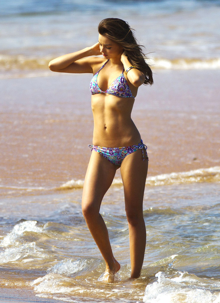 Miranda Kerr was on hand for a beach photo shoot in Sydney, Australia, in August 2012.