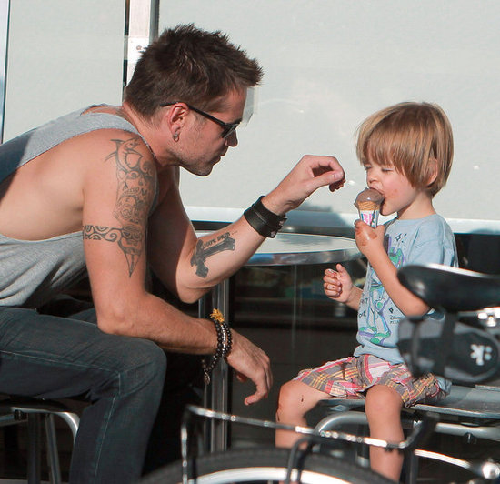 Colin Farrell Takes His Son Henry For Ice Cream