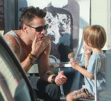 Colin Farrell and Henry Farrell spent the day in LA.