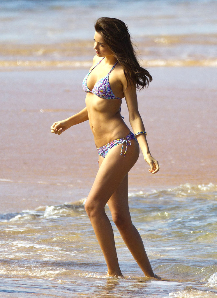 Miranda Kerr Does a Beachy Shoot With Two Bikinis and Shirtless Guys