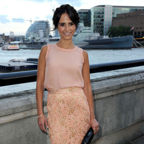 Jordana Brewster Wearing Pink Pencil Skirt