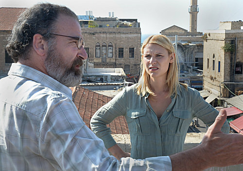 Claire Danes and Mandy Patinkin in Homeland.