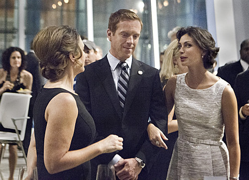 Damien Lewis and Morena Baccarin in Homeland.