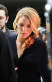 Blake Lively wore her hair in a braid on the set of Gossip Girl in NYC.