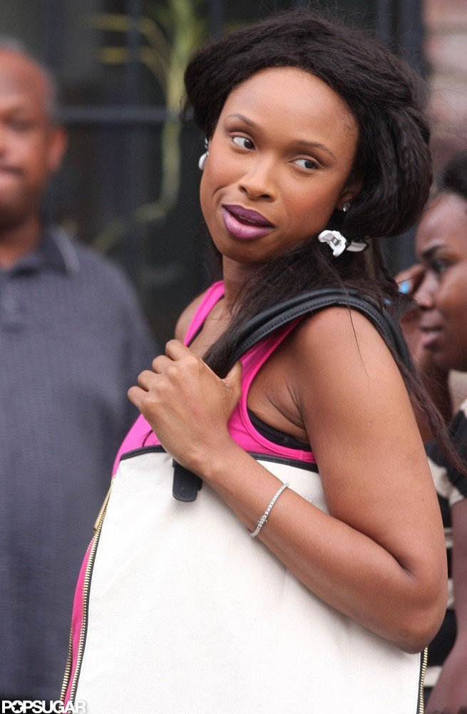 Jennifer Hudson looked pretty in pink.