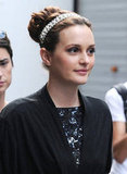 We have a feeling the season will kick off with more than a little sparkle, as evidenced by Leighton's princess-worth diamond-encrusted headband and sequined dress.