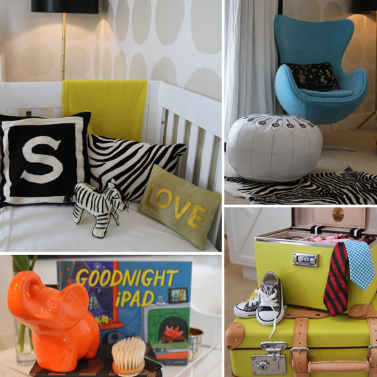 Mod Touches Everywhere in Spencer's Color-Poppin' Nursery