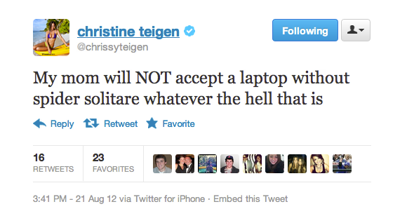Chrissy's mom wants a laptop for one thing and one thing only.
