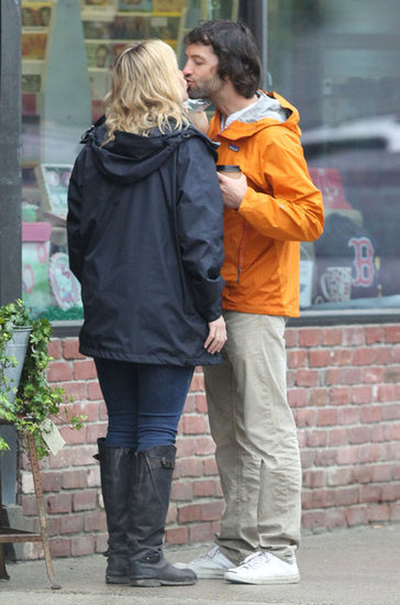 Kate Winslet and boyfriend Ned Rocknroll went shopping and shared a kiss during their June visit to Boston.