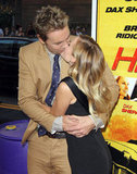 Dax Shepard and Kristen Bell shared a kiss at their LA premiere of Hit and Run in August.