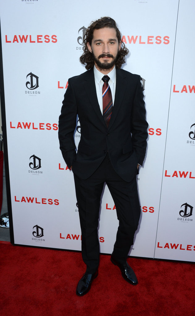 Shia LaBeouf Brings a Date to Lawless' LA Premiere